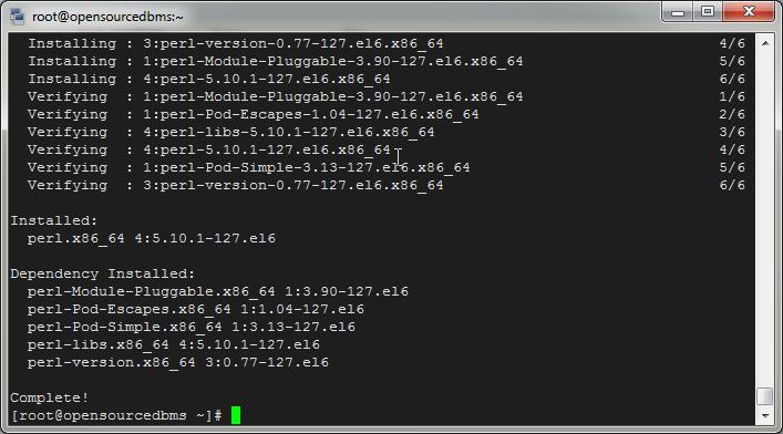 mysql 5.5 perl installed