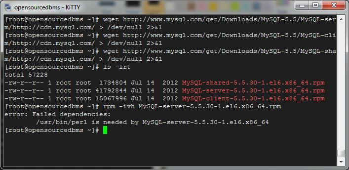 mysql 5.5 perl dependency