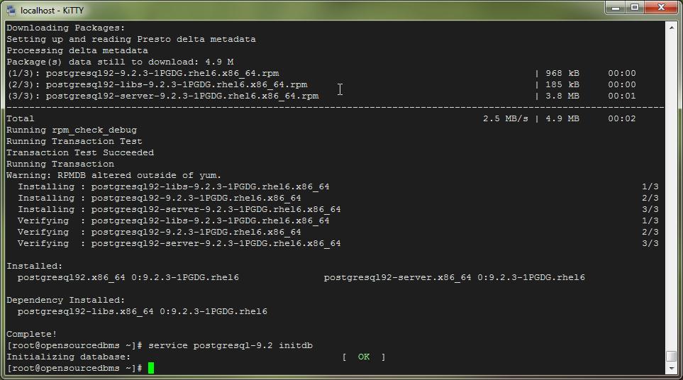 How to Install PostgreSQL 9 2 on CentOS 6 3 / RedHat EL6/Fedora