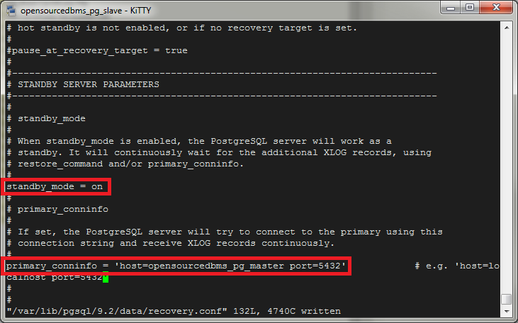 postgres standy recovery