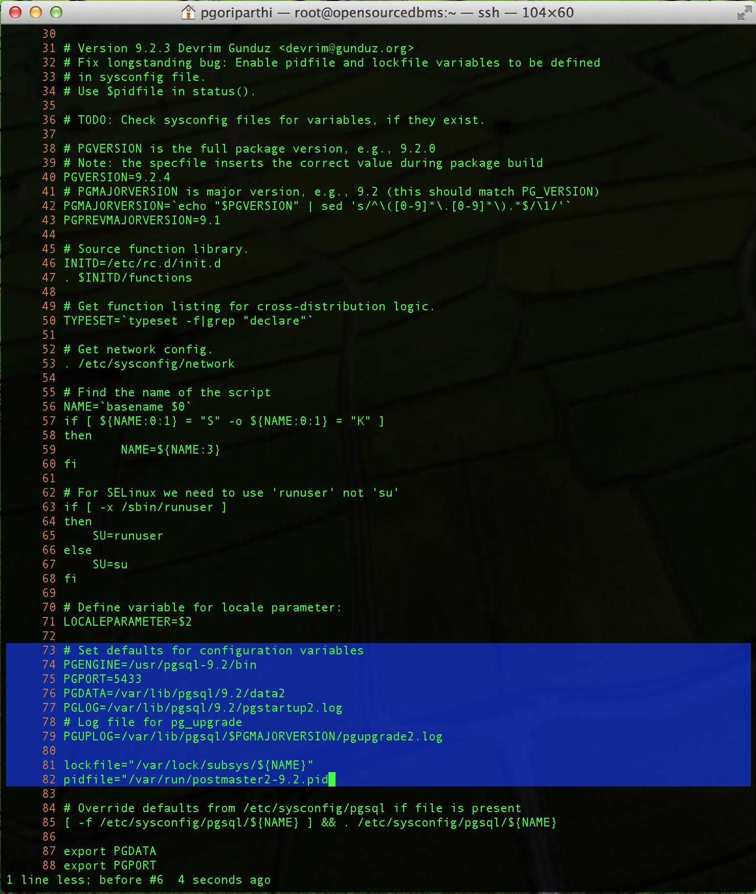 Running multiple PostgreSQL 9 2 Instances on CentOS 6/RHEL 6/Fedora